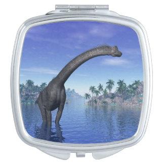 Brachiosaurusdinosaurier - 3D übertragen Taschenspiegel