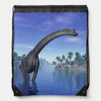 Brachiosaurusdinosaurier - 3D übertragen Turnbeutel