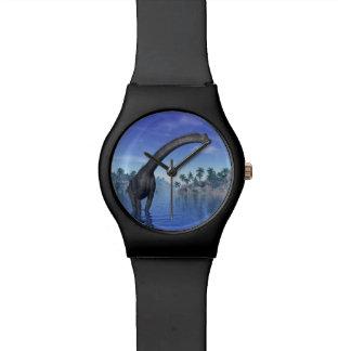 Brachiosaurusdinosaurier - 3D übertragen Uhr