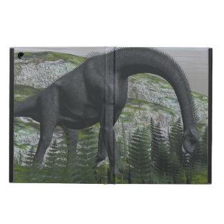 Brachiosaurusdinosaurier, der Farn isst - 3D