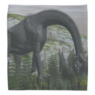 Brachiosaurusdinosaurier, der Farn isst - 3D Kopftuch