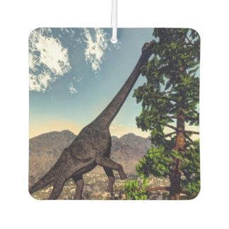 Brachiosaurusdinosaurier, der wollomia Kiefer isst Autolufterfrischer