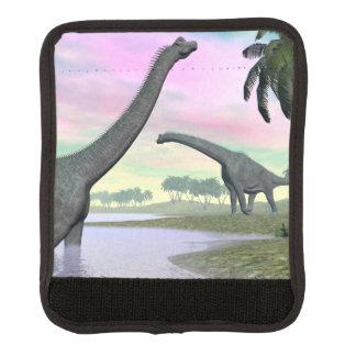 Brachiosaurusdinosaurier in der Natur - 3D Gepräckgriffwickel