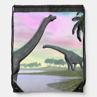 Brachiosaurusdinosaurier in der Natur - 3D Sportbeutel