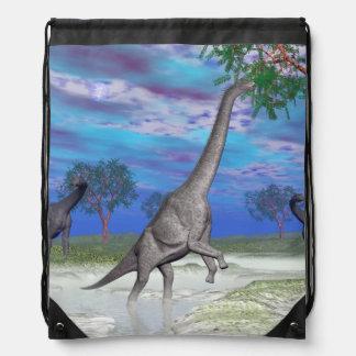 Brachiosaurusdinosaurieressen - 3D übertragen Turnbeutel