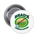 Brads landschaftlich gestaltenauszug-Film Anstecknadelbuttons