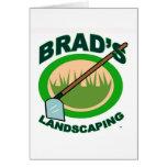 Brads landschaftlich gestaltenauszug-Film Karte