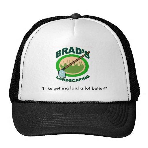 Brads Landschaftsgestaltung Baseballkappen