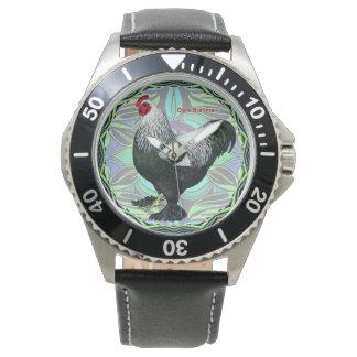 Brahma:  Extravaganter dunkler Hahn Armbanduhr