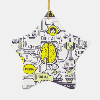 Brain Center Keramik Ornament