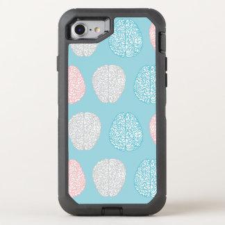 Brainy Pastellmuster (fantastische Pastellgehirne) OtterBox Defender iPhone 8/7 Hülle