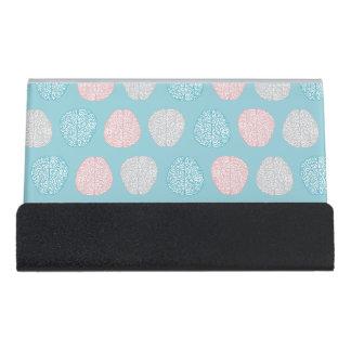 Brainy Pastellmuster (fantastische Pastellgehirne) Schreibtisch-Visitenkartenhalter