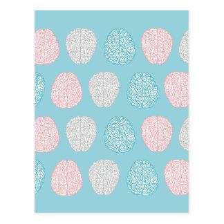 Brainy Pastellmuster Postkarte