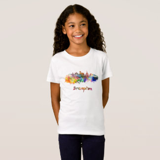 Brampton skyline im Watercolor T-Shirt