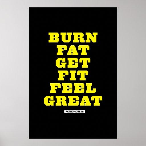 BRAND-FAT - ERHALTEN Sie SITZ - GEFÜHL GROSSE Fitn Poster