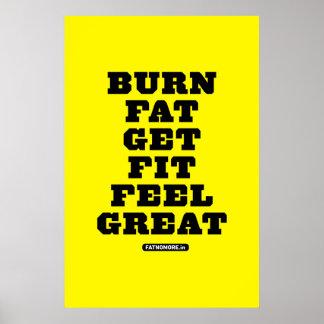 BRAND-FAT - ERHALTEN Sie SITZ - GEFÜHL GROSSE Fitn Plakat