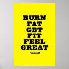 BRAND-FAT - ERHALTEN Sie SITZ - GEFÜHL GROSSE Poster