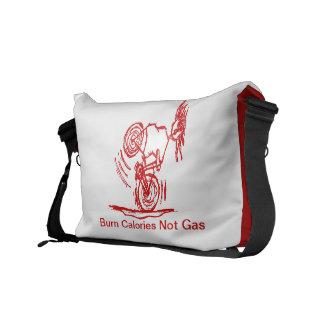 Brand-Kalorien - nicht Gas - Rot Kurier Taschen