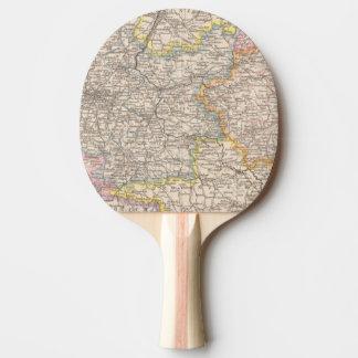 Brandenburg, Posen Atlas-Karte Tischtennis Schläger