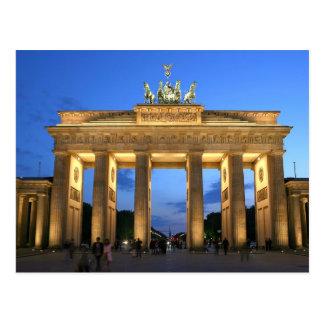 Brandenburger Tor Abend Postkarte