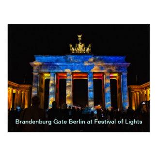 Brandenburger Tor Berlin am Festival der Lichter Postkarte