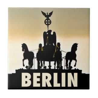 Brandenburger Tor BERLINquadriga-002,1 Kleine Quadratische Fliese