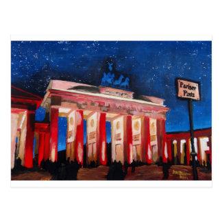 Brandenburger Tor Berlins Mit Paris-Platz an nah Postkarte