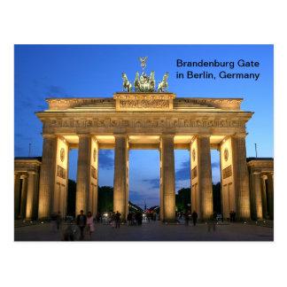 Brandenburger Tor in Berlin, Deutschland nachts Postkarte