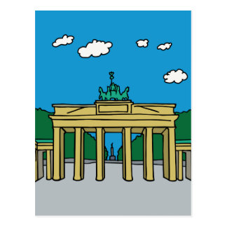 Brandenburger Tor in Berlin Postkarte
