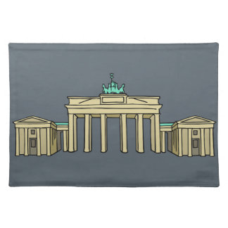 Brandenburger Tor in Berlin Stofftischset