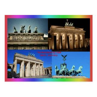 Brandenburger Tor, Montage Berlins, Deutschland Postkarte