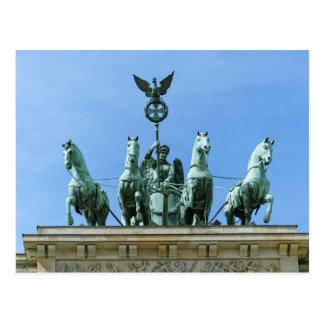 Brandenburger Tor Quadriga Berlin Postkarte