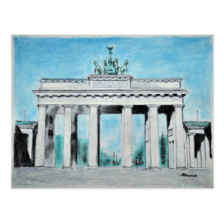 Brandenburger Tor Skizze Postkarte
