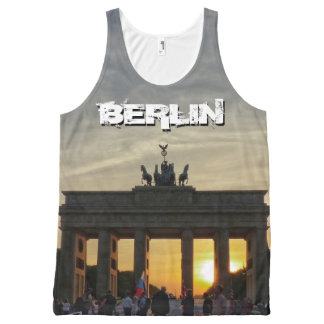 Brandenburger Tor, Sonnenuntergang, BERLIN Komplett Bedrucktes Tanktop