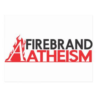 Brandfackel-Atheismus Postkarte