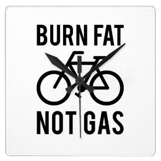 Brandfett, nicht Gas Quadratische Wanduhr