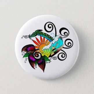 Brandung abstrakt runder button 5,7 cm