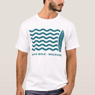 Brandung männliche Nordmalediven T-Shirt