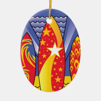 Brandungs-Bretter, Retro Kunst-Deko Keramik Ornament