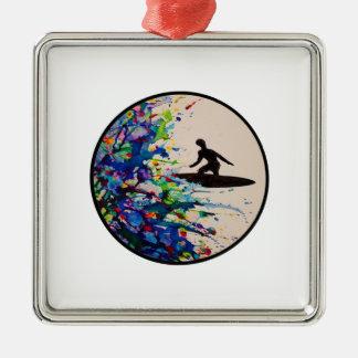 Brandungs-Explosion Silbernes Ornament