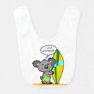 Brandungs-Koala-Bärn-Baby-Schellfisch Babylätzchen
