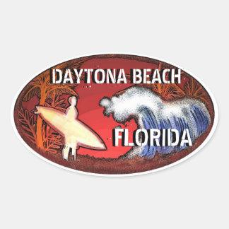 Brandungs-Kunstaufkleber Daytona Beach Florida Ovaler Aufkleber