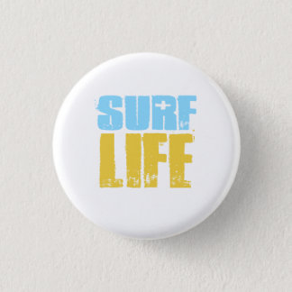 Brandungs-Leben-Strand-Surfer-Art Runder Button 3,2 Cm