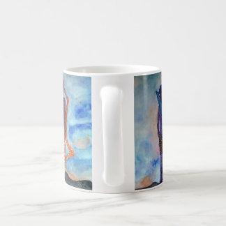 Brandungs-Yoga-romantische Malerei-Weiß-Tasse Kaffeetasse