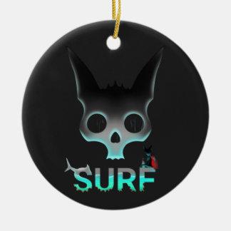 Brandungstädtischer Graffiti-coole Katze Keramik Ornament