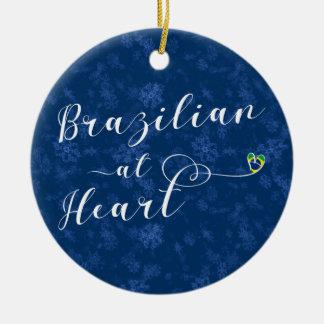 Brasilianer an der Herz-Feiertags-Baum-Verzierung Keramik Ornament