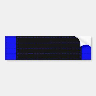 Brasilianer Jiu-Jitsu BJJ blauer Autoaufkleber