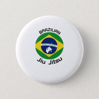 Brasilianer Jiu Jitsu (BJJ) Flagge Runder Button 5,7 Cm