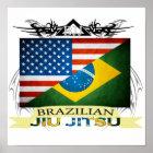 Brasilianer Jiu JItsu Flaggen-Fusionsplakat Poster