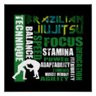 Brasilianer Jiu Jitsu Plakat Element-BJJ